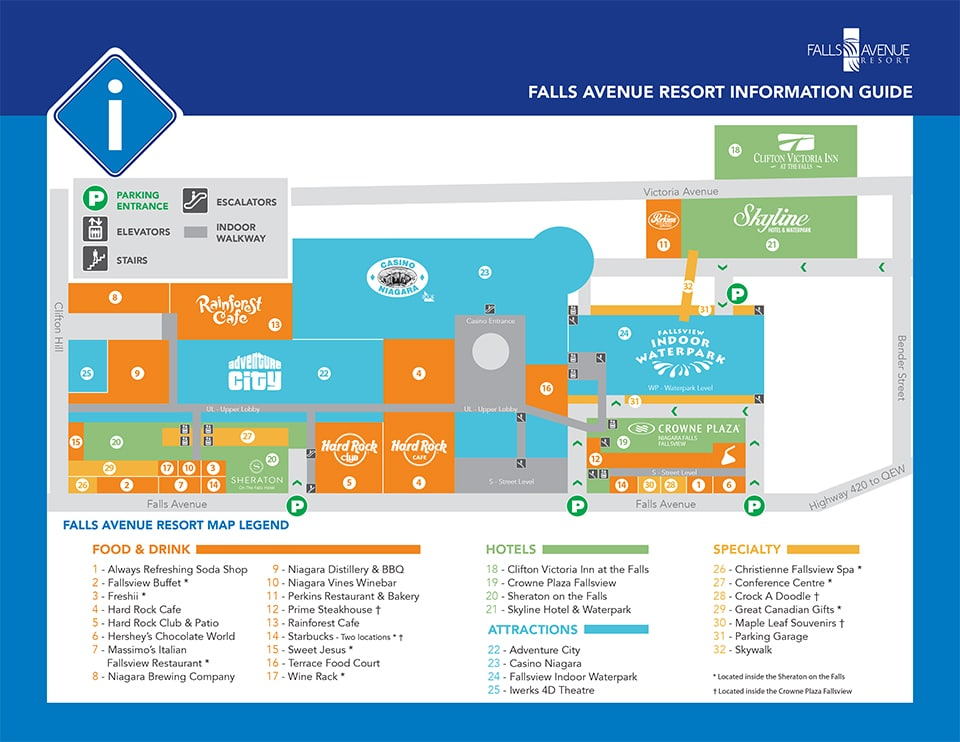 Falls Avenue Resort Map