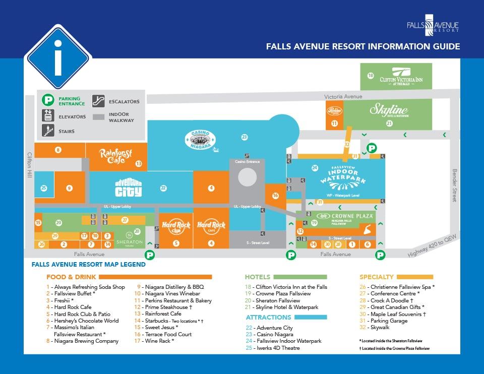 Falls Avenue Resort Map